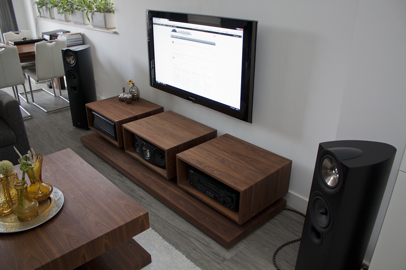 1 - Black Walnut A/V Cabinet