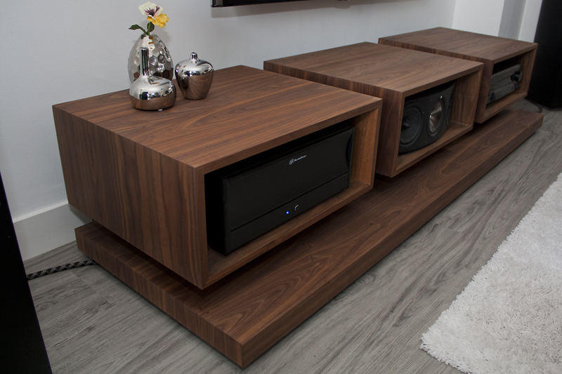2 - Black Walnut A/V Cabinet