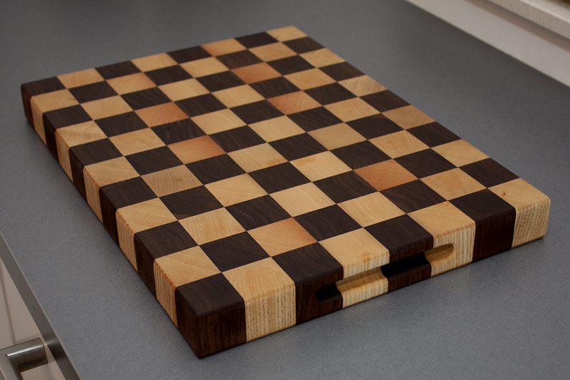 2 - Black Walnut with Ash end grain Cutting Board