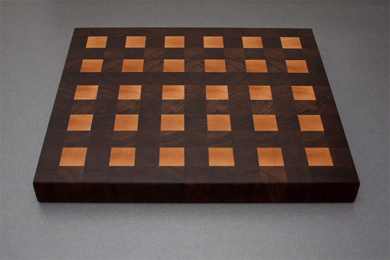 1 - Black Walnut with Hard Maple end grain Cutting Board