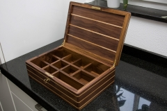 3 - Tea Box from Black Walnut with Ash inlay