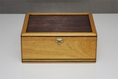 1 - Tea Box from Yellowheart with Black Walnut inlay