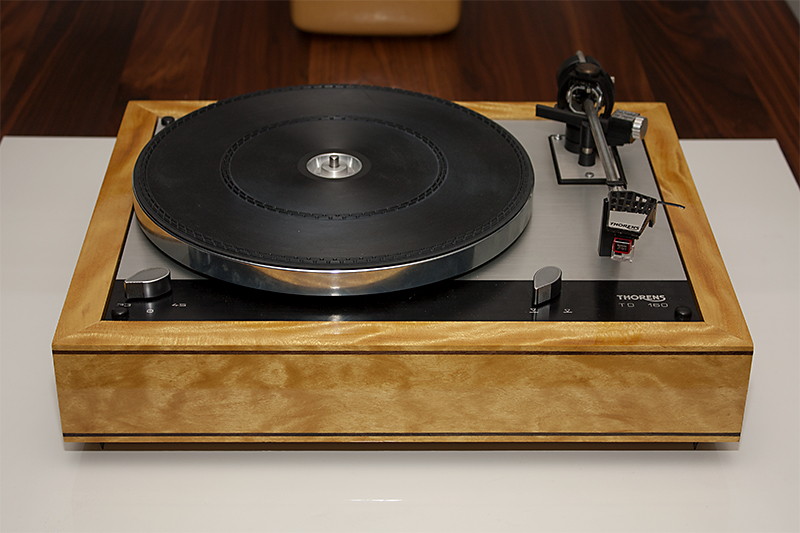 1 - Thorens TD160 plinth Yellowheart
