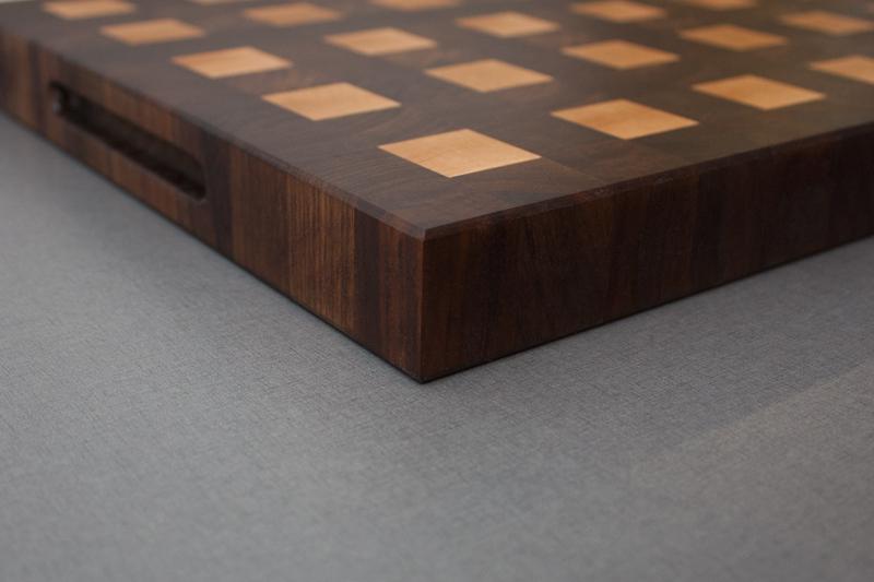2 - Black Walnut with Hard Maple end grain Cutting Board