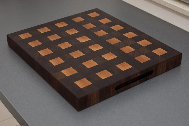 4 - Black Walnut with Hard Maple end grain Cutting Board