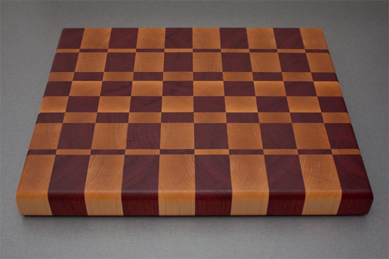 1 - Purpleheart with Hard Maple end grain Cutting Board