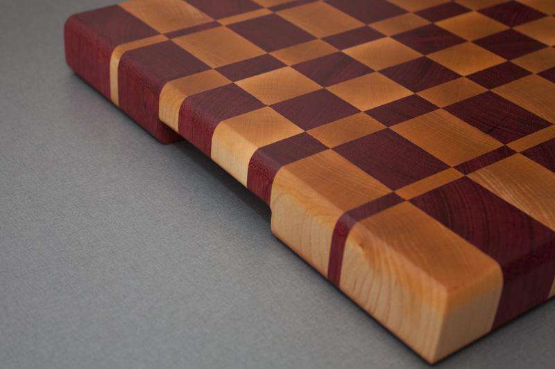 2 - Purpleheart with Hard Maple end grain Cutting Board