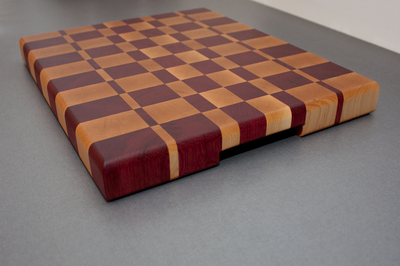 3 - Purpleheart with Hard Maple end grain Cutting Board